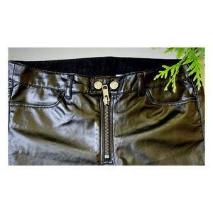 Divided Pants - DIVIDED H&M black faux leather pants